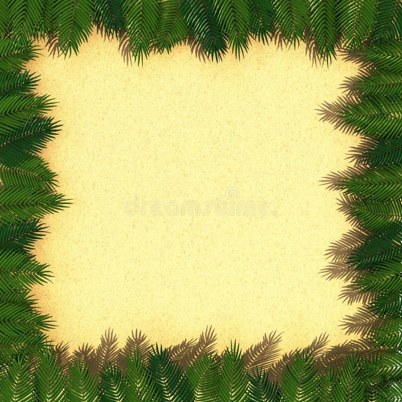 Download Frame van palmbladen stock illustratie. Illustratie bestaande uit overzees - 29503220