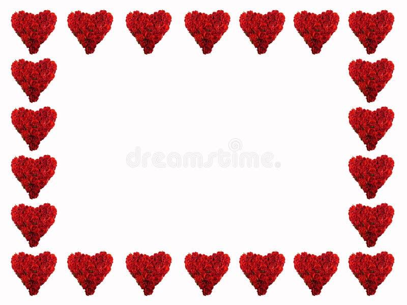 Frame van rode harten stock afbeelding