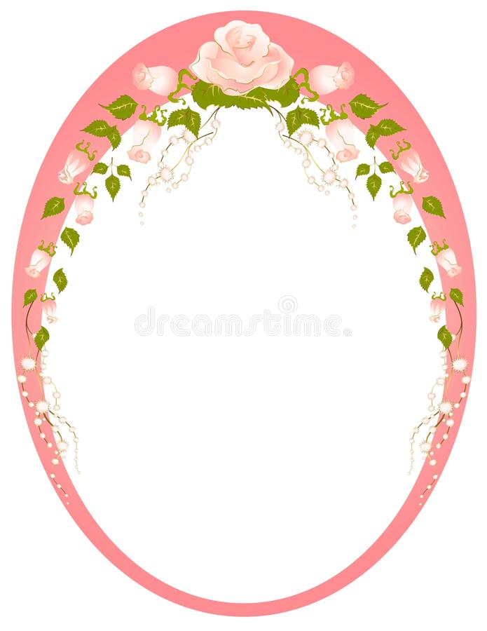 Frame van rozen royalty-vrije illustratie