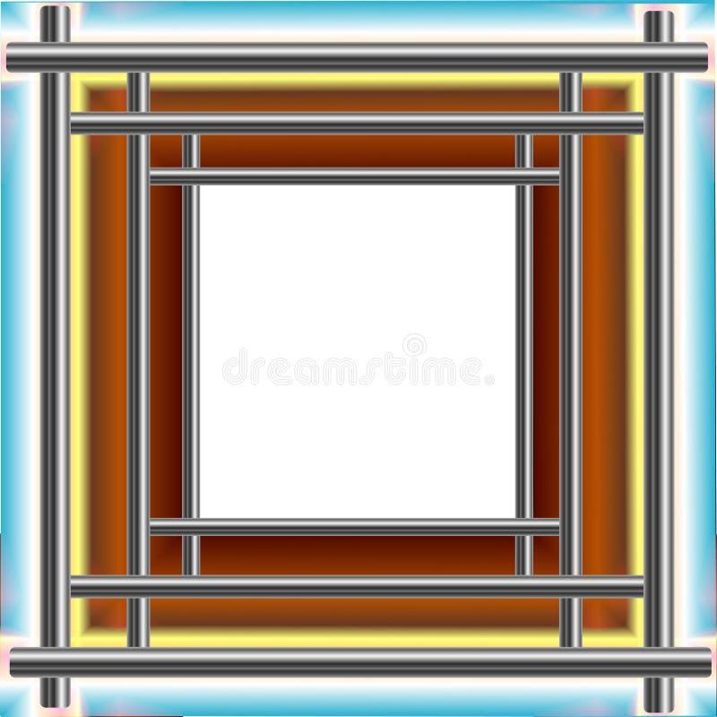 Frame van staalbuizenstelsel stock illustratie
