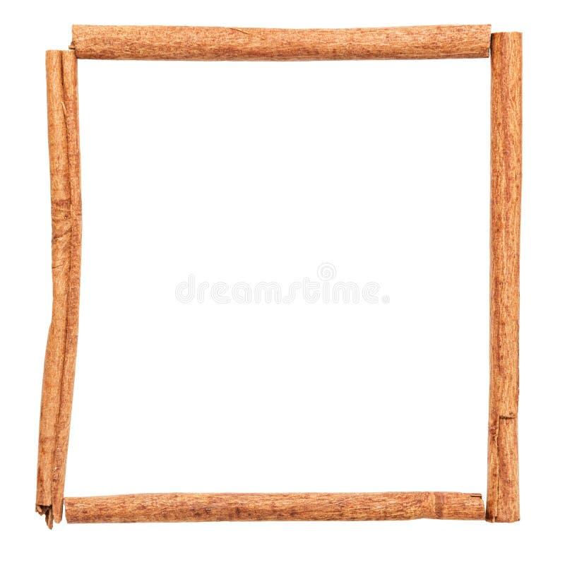 Frame van stokken van kaneel stock afbeeldingen