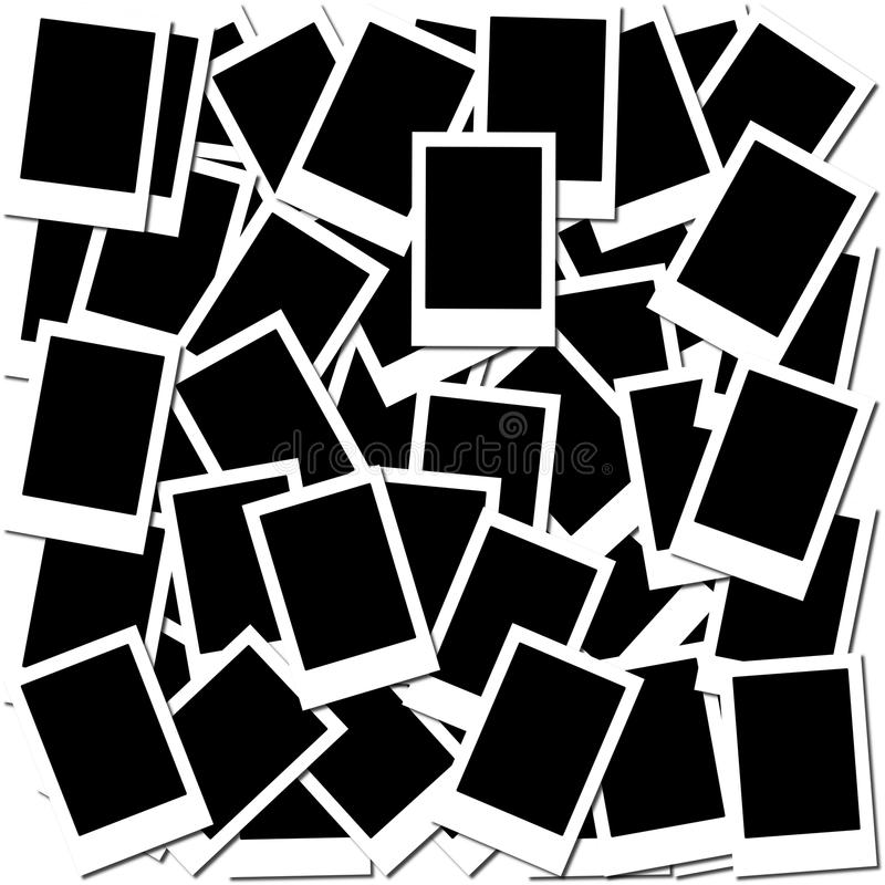Frame vazio em branco da foto ilustração do vetor