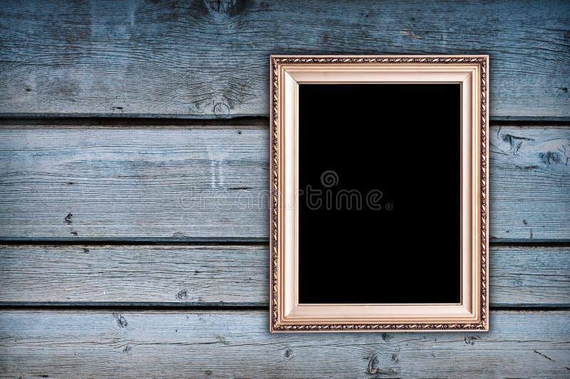 Frame vazio na parede foto de stock