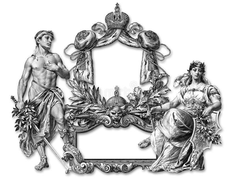 Frame velho ilustração royalty free