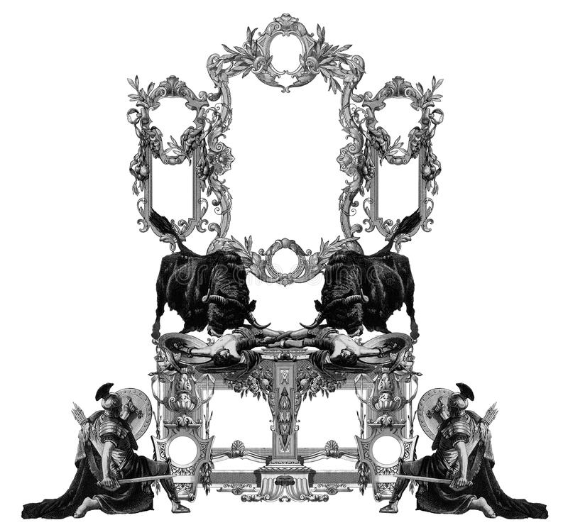 Frame velho ilustração do vetor