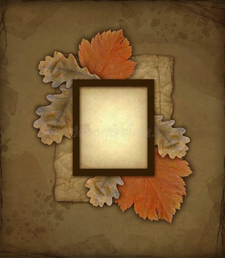 Frame Velho Da Foto Do Outono Imagens de Stock