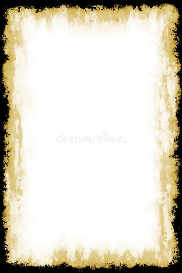 Frame velho do papel do vintage ilustração do vetor