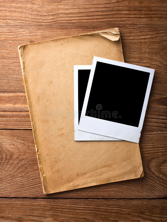 Frame velho do papel e da foto imagem de stock