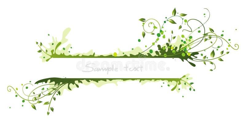 Frame verde ilustração do vetor