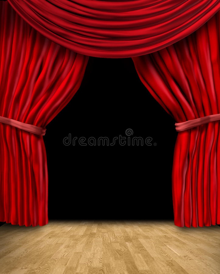 Frame vermelho da cortina de veludo ilustração stock
