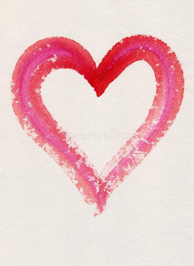 Frame vermelho do coração fotografia de stock