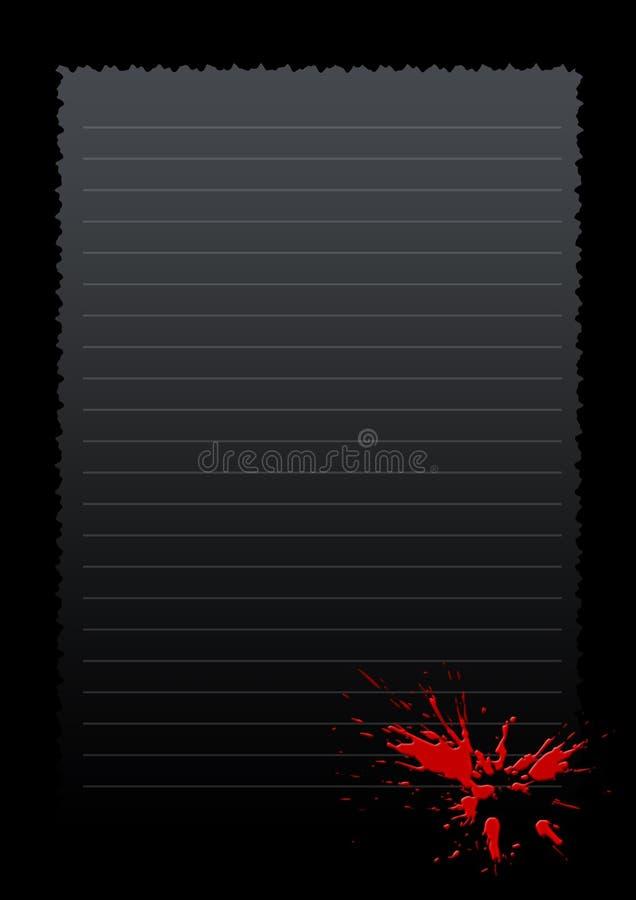 Frame vermelho do papel do acordo ilustração royalty free