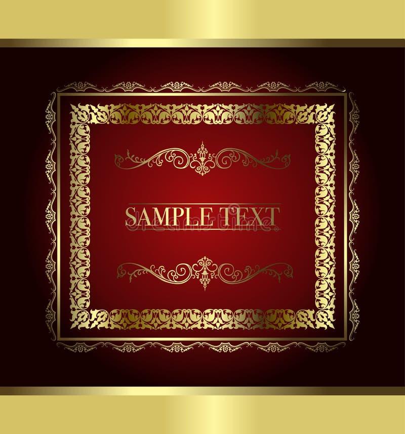 Frame vermelho do vintage ilustração royalty free