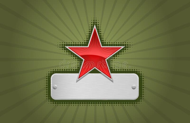 Frame vermelho e verde do vetor da estrela ilustração royalty free