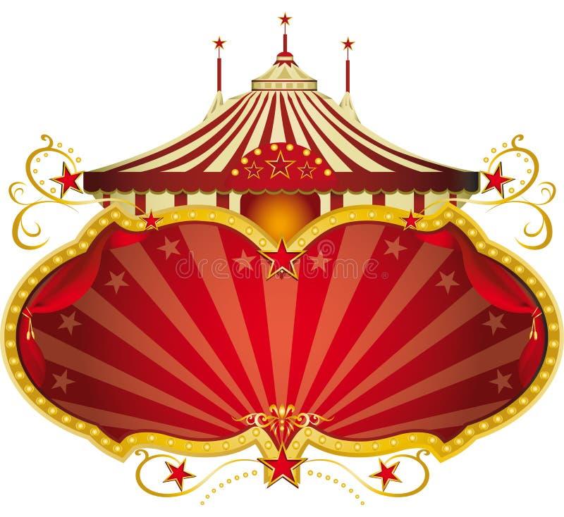Frame vermelho mágico do circo ilustração royalty free