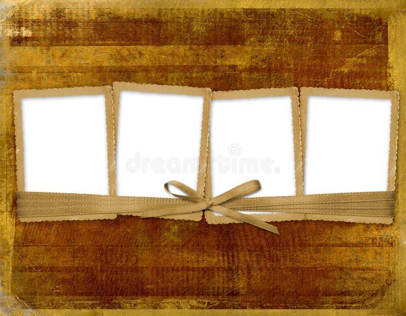 Frame vier met linten en boog vector illustratie