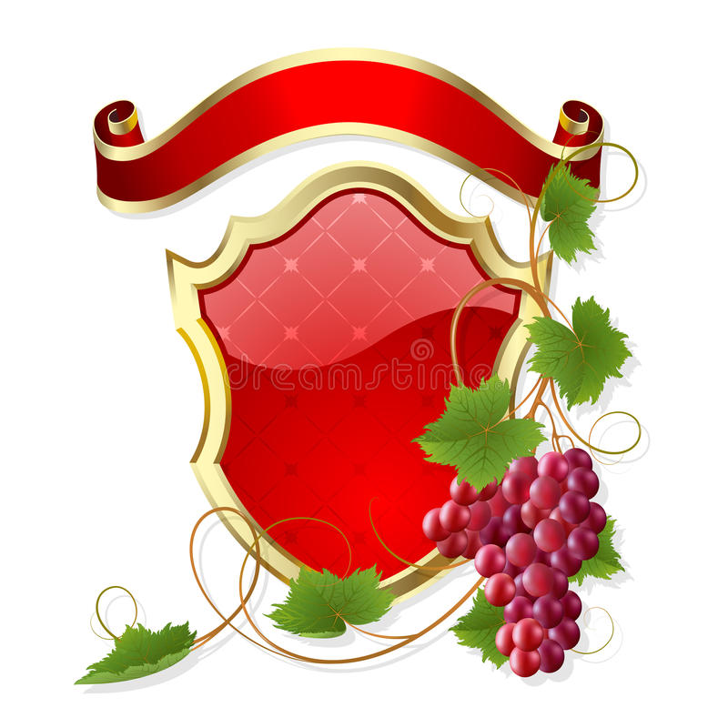 Download Frame with vine stock vector. Image of bunch, beauty - 15467248