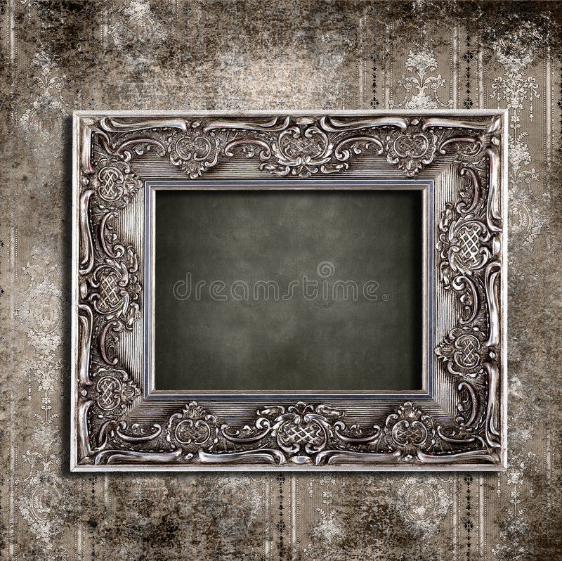 Frame vintage wallpaper stock images