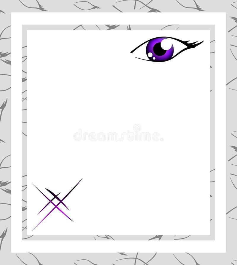 Frame violeta do olho ilustração do vetor