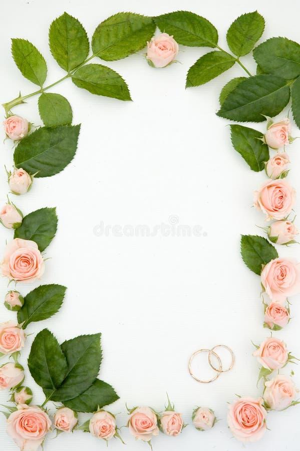 Frame voor huwelijksfoto stock foto's