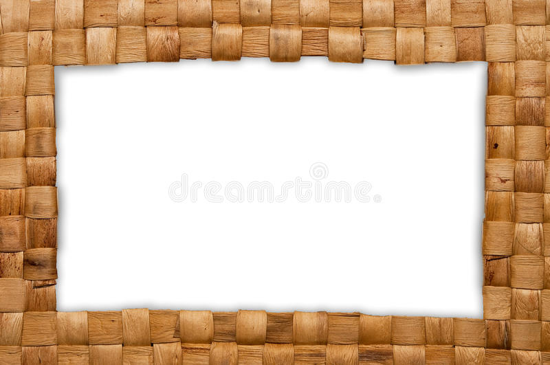 Download Frame of weave basket stock image. Image of linen, flax - 15343035