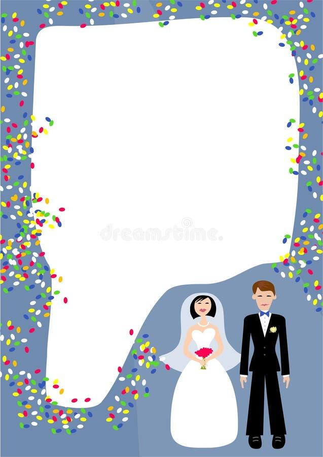 frame wedding ilustracja wektor
