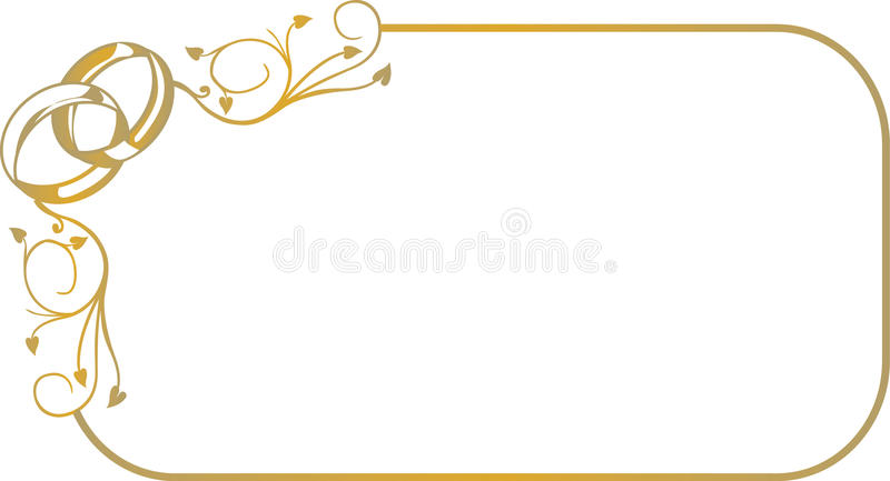 Frame with wedding rings royalty free illustration