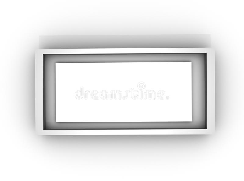 Frame white / Blank Template Empty Null / Card. Square / Isolated royalty free illustration