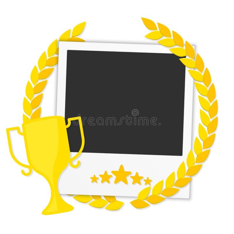 Frame winner photos stock illustration