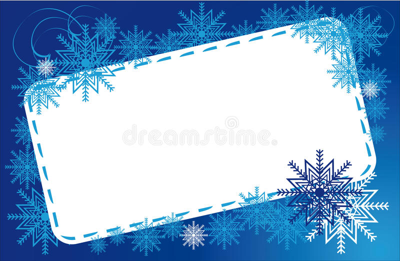 Download Frame winter snowflakes stock vector. Illustration of celebration - 22090092