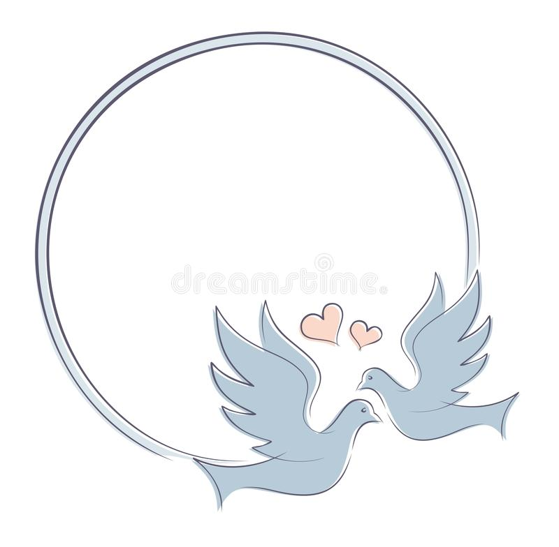 Free Frame With Doves. Royalty Free Stock Image - 81909946