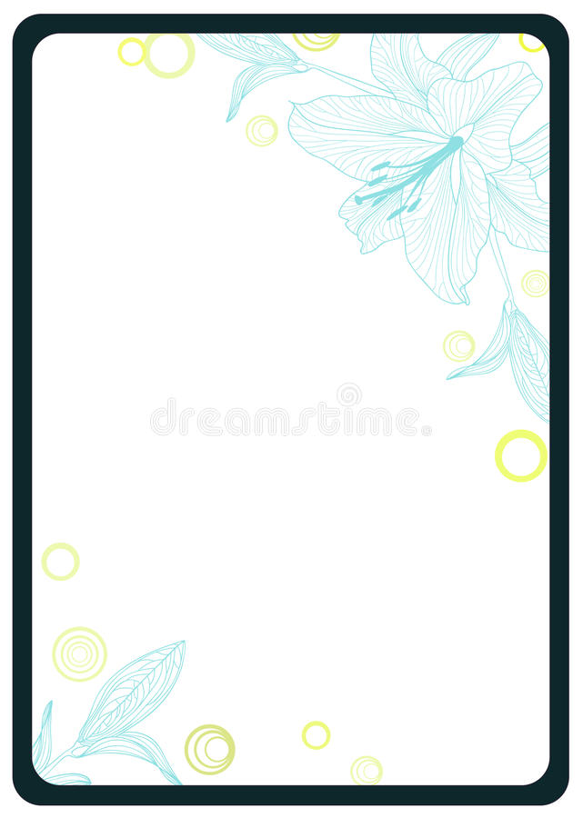 Free Frame With Flower Lily. Royalty Free Stock Images - 13992319
