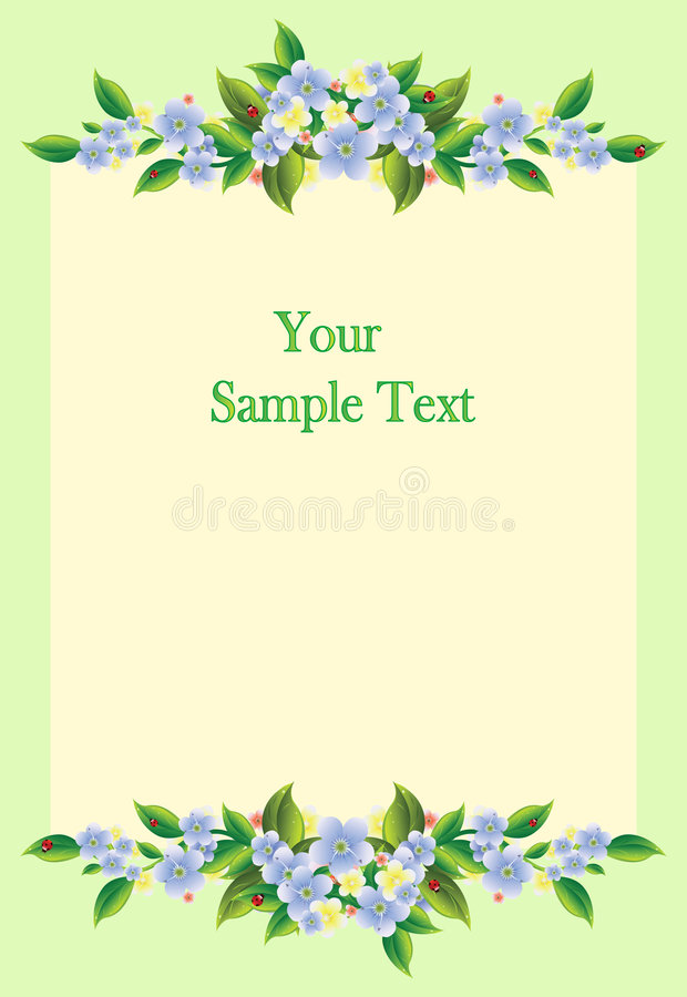 Free Frame With Flowers Stock Image - 9272371