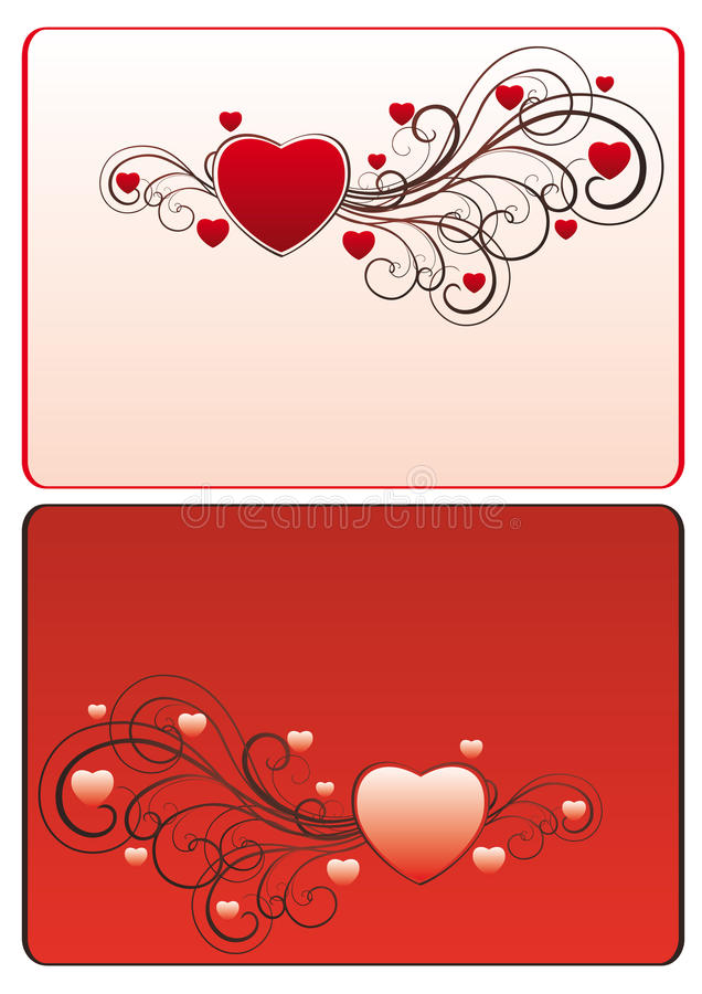 Free Frame With Hearts And Swirls Stock Photography - 20173592