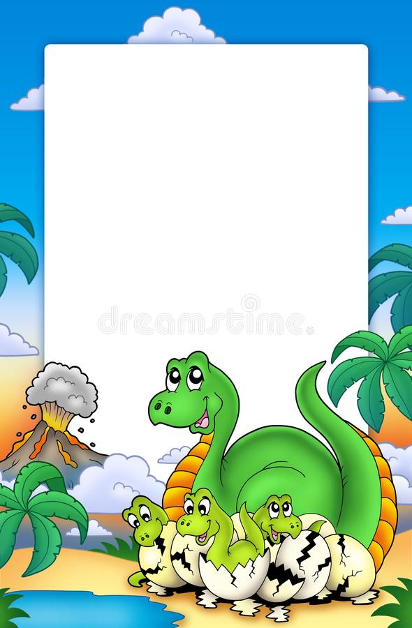 Free Frame With Little Dinosaurs Royalty Free Stock Image - 14638596