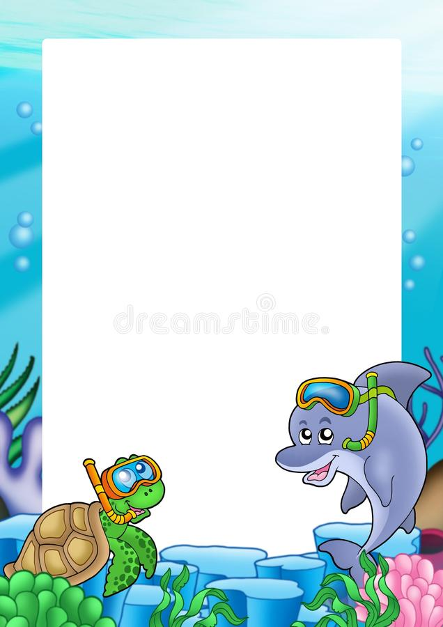Free Frame With Turtle And Dolphin Stock Image - 11478111