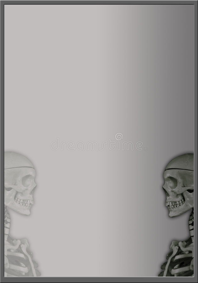 Free Frame With Two Skulls Stock Image - 1340731