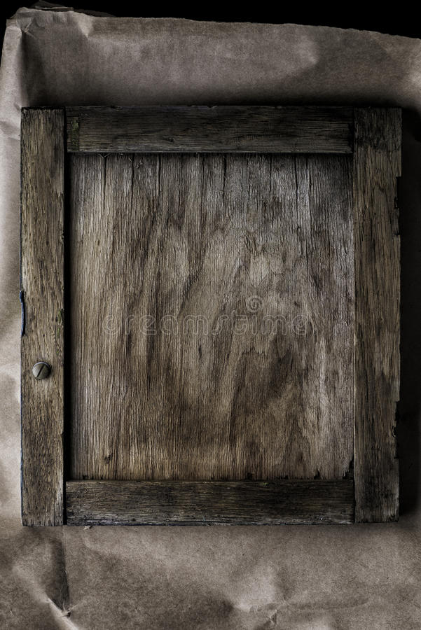 Frame on wooden background - vintage style effect picture royalty free stock photo