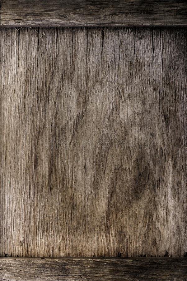 Frame on wooden background - vintage style effect picture stock image