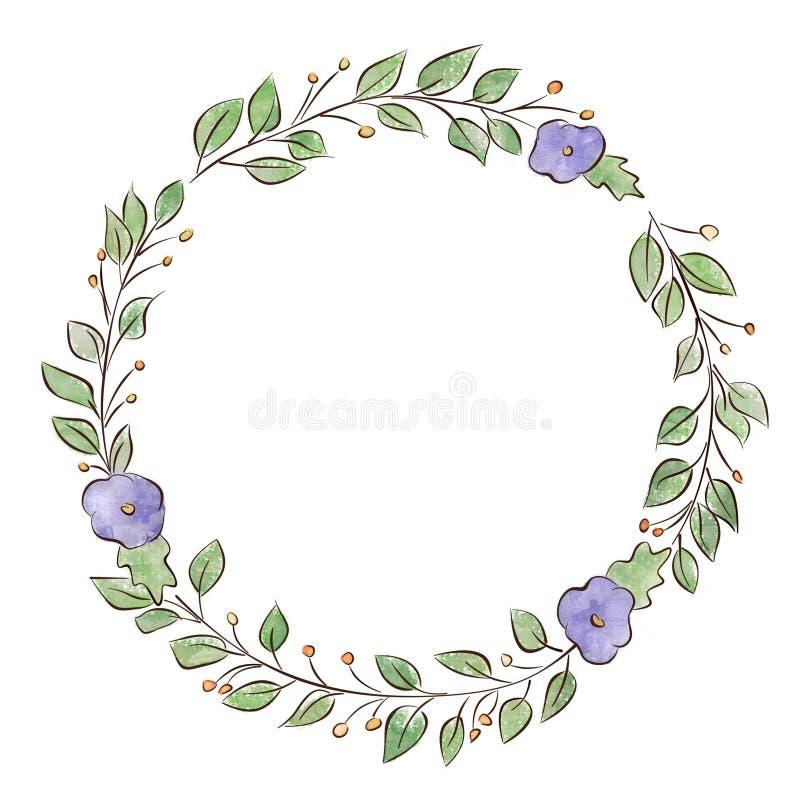 Frame, wreath, plant motifs royalty free stock photos