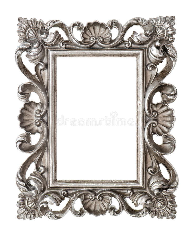 download frame your picture photo image vintage silver baroque object stock photo