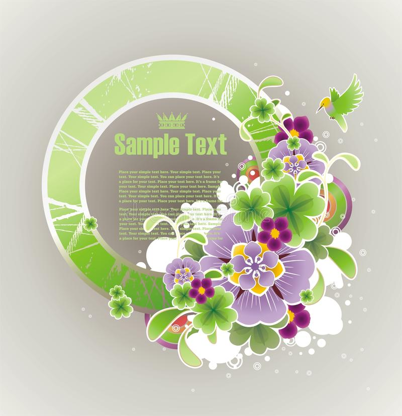 Download Frame For Your Text Decorated With Flowers Stock Vector - Illustration: 10211548