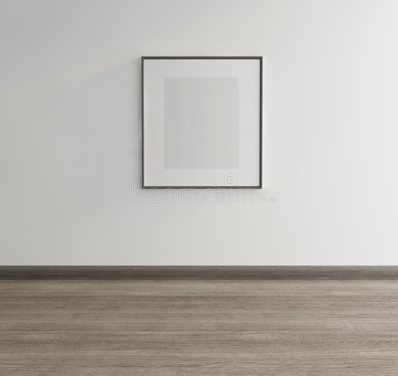 Framed art on wall of an art gallery stock photo