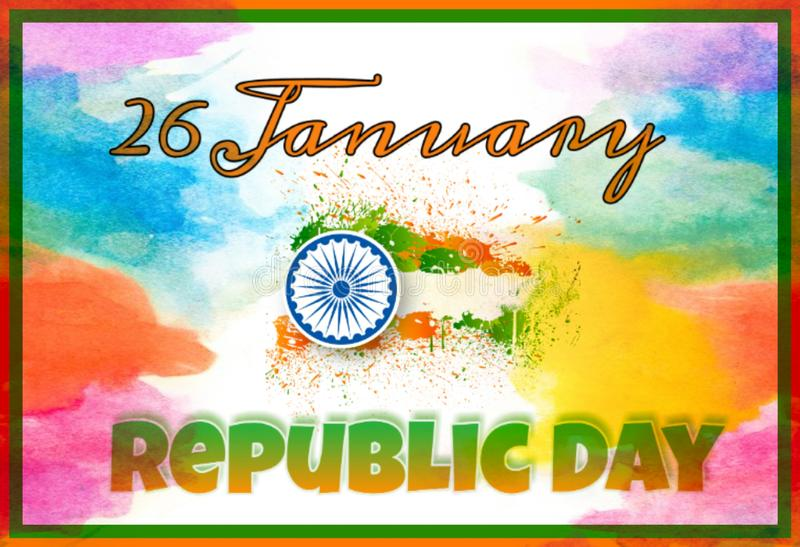 Framed background of Happy Republic Day stock images