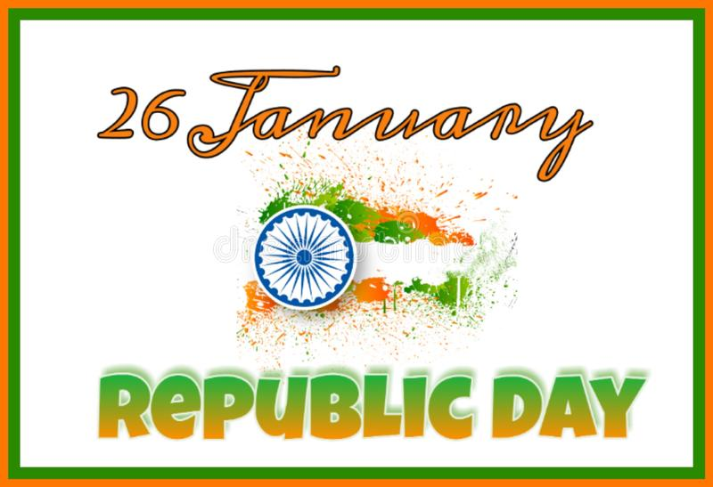 Framed background of Indian Republic Day royalty free illustration