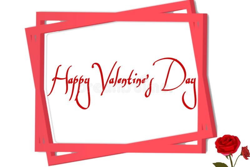 Framed background of wishing valentine day royalty free illustration