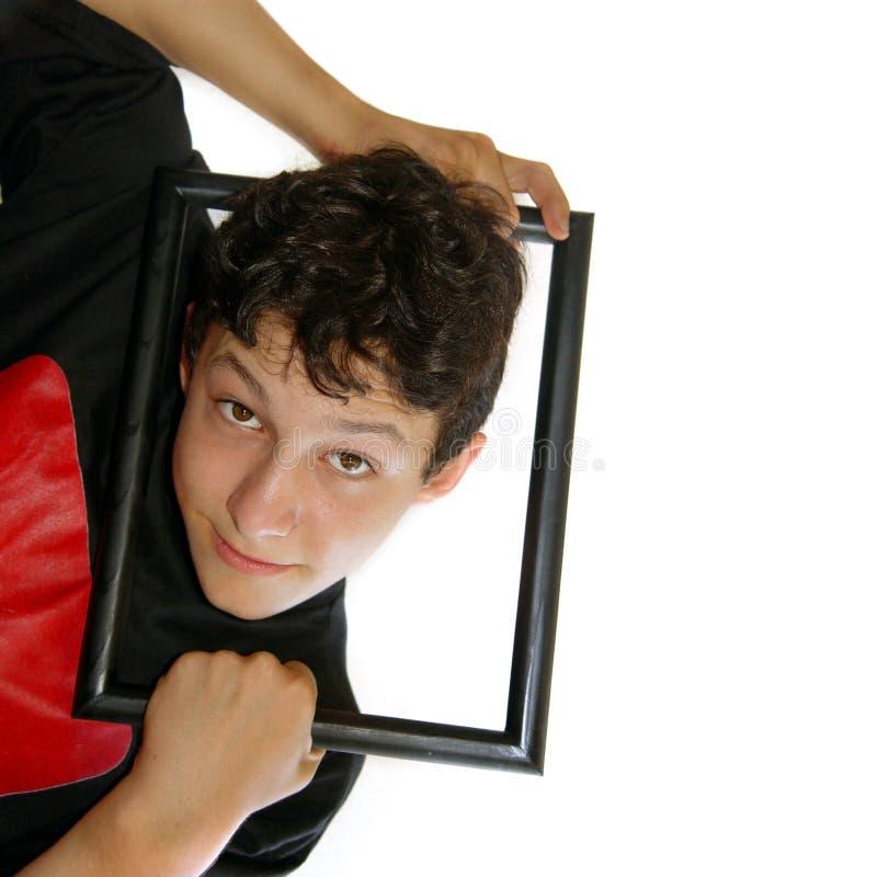 Framed boy stock image