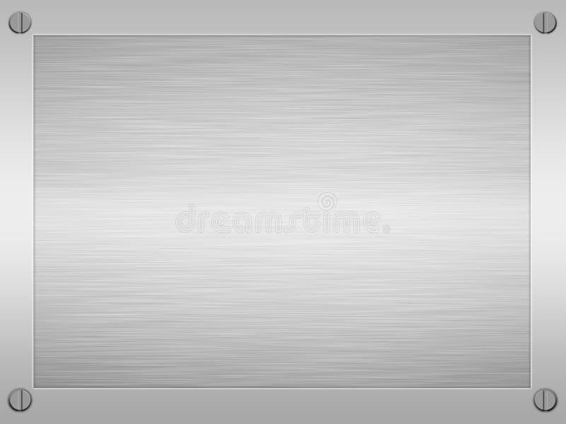 Framed brushed steel metal vector illustration