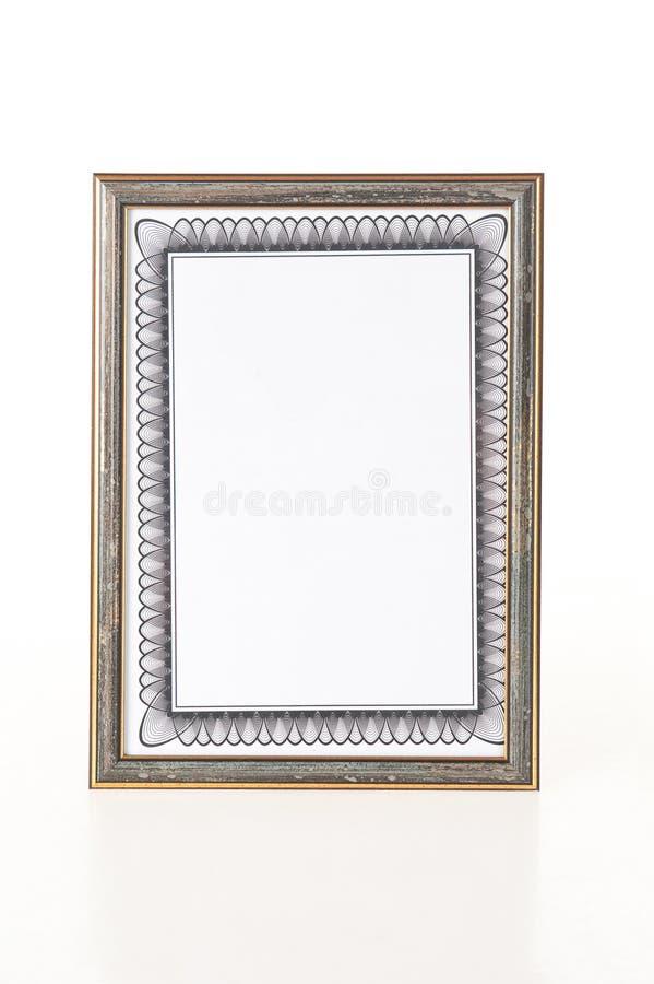 Download Framed certificate stock image. Image of diploma, framed - 17439881