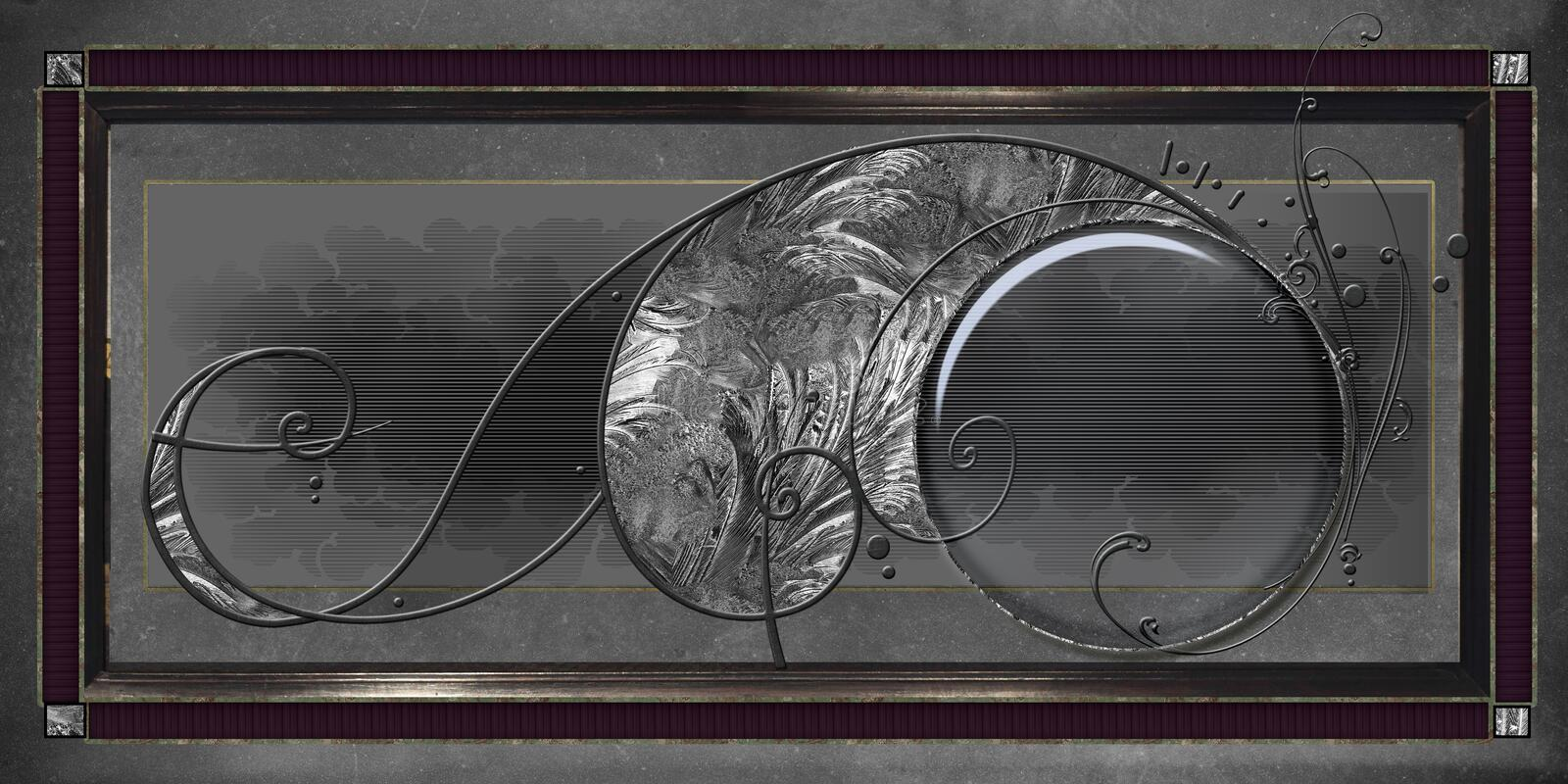Framed deco glass royalty free illustration
